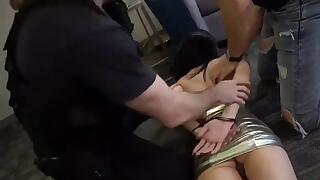 Teen slut abused by police cock for being an escort
